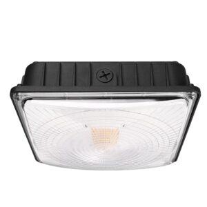 45W LED Canopy Light  Weatherproof Low Bay Ceiling Gas Station 5400lm ETL Listed