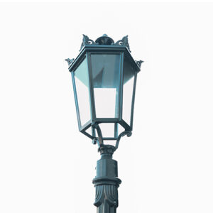 Aluminum garden decorative light pole, Deep Green, E27 Socket, IP44, Size:(H)9'