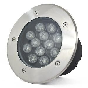 Underground LED Light, 15W, 24VDC, 6000K, 45� beam, D200*95mm, IP67, stainless steel with plastic template