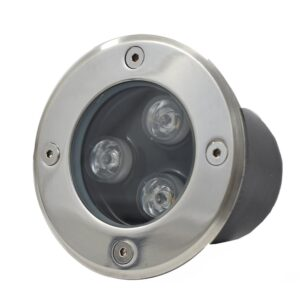 Underground LED Light, 3W, 24VDC, Green, 30� beam, D100*95mm, IP67, stainless steel with plastic template