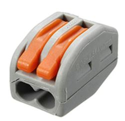 2 port press-on connector, wire range #18-12AWG (0.08-2.5mm2) Strip length: 12-13mm, Max Voltage: 250V, 32A max. Amb Temp: -40?F~221?F