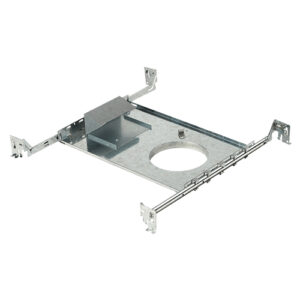 """4 1/8"""" new construction rough-in plate for recessed led downlights"""