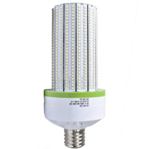 "UL Corn Light 100watt/100~277Vac, White5000K/115200Lm. CRI:>80, Ra, pf>0.92 Clear cover, IP64, Epister SMD2835 Chip, Side4.5""x10.5"", 3 Year Limited Warranty"