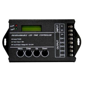 5 channel time programmable controller 240w/12Vdc