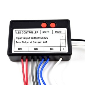 3 output multi-function LED RGB Controller 12VDC/288W/24A, Chasing and Speed mode