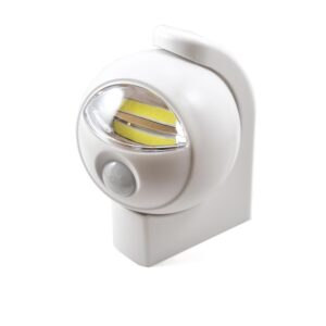 COB LED Motion Sensor Light , Cool White 6000k, White Exterior