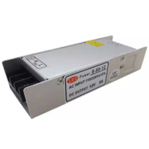 Power-Supply-60W-12VD-5A,-110VAC-60Hz