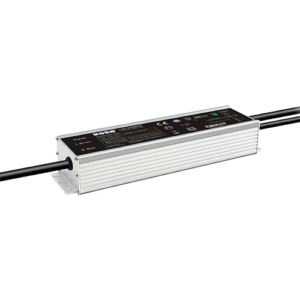 UL Outdoor adjustable & dimmable driver, Output 20~62Vdc/3.87~5.2A, Input 90~305Vac, Effi:92%, PF 0.96, Default 48V/5A