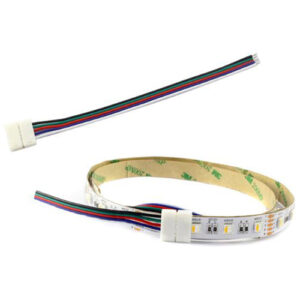 "2 Wires 9"", 5 Connectors 12mm PC Board RGBW"