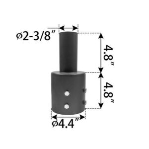 Vertical-Tenon-Reducer,-fits-4.4-inch-round-pole