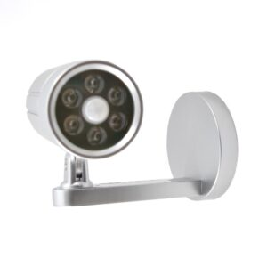 6 LED motion sensor camara shape light, Silver Color, White 6000k, Use 4pcs/AA battery