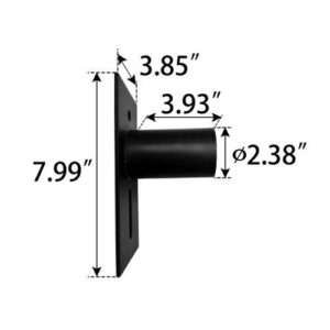 Wall-Mount-Adapter,-creates-2.38-inch-tenon,-180-degree-angle