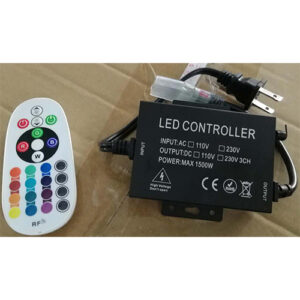 10mm pin RGB RF Remote Controller, 16 colors, dimming, on/off, 4 effects, supports: 50m 110V, 100m 220V, 10-20meter distance