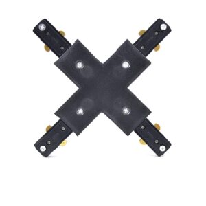 4 way connector for track lights black